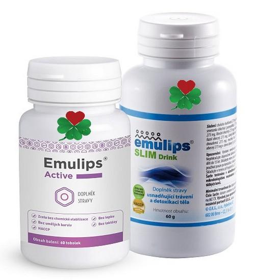 OKG Emulips Active + Drink (60 tbl.+ 60 g směsi) (napomáhá snižovat podkožní tuk a detoxikuje organi