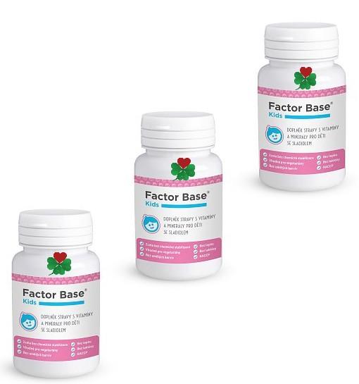 OKG Factor Base Kids XXL 180 ks ( vitamíny, minerály, betaglukany )