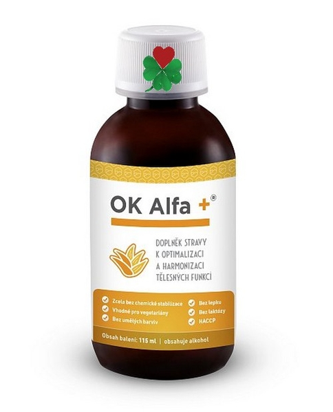 """OK ALFA+ 115 ml - játra, záněty, imunita, nachlazení, """" životabudič """""""