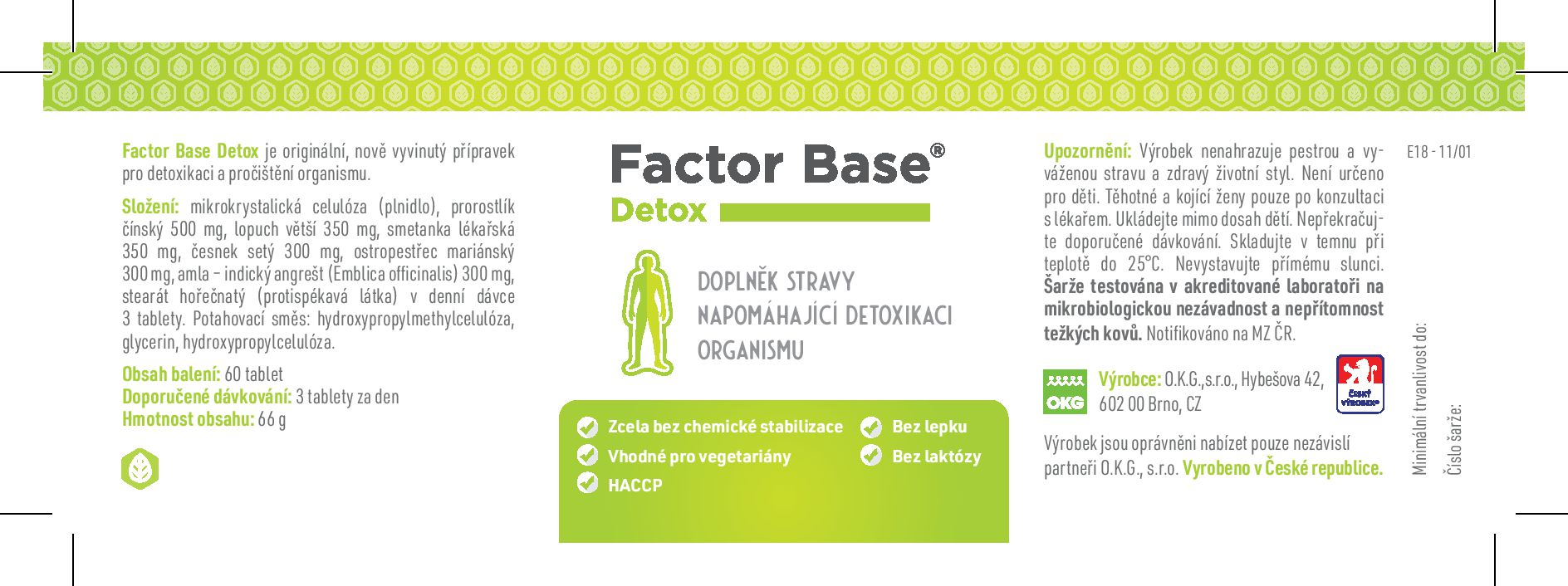etiketa factor Base Detox